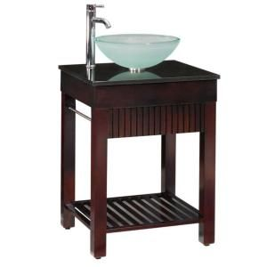 Home Decorators Collection Lofty 25 in. W x 22 in. D Vanity in Dark Walnut with Granite Vanity Top in Black 0138810810 at The Home Depot - Mobile