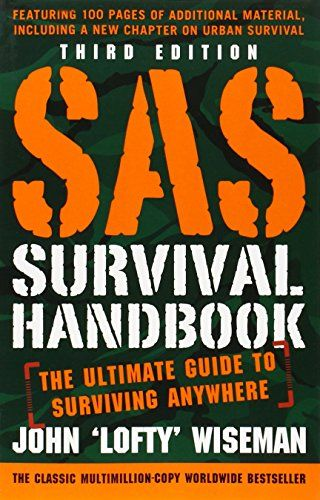the survival bible by john lofty wiseman sas legend and as tough as a coffin nail this book is simple well written but has pages of things to keep you alive please read and keep in your ghb/bob/swht/inch bag it may keep you in one piece !!!!!
