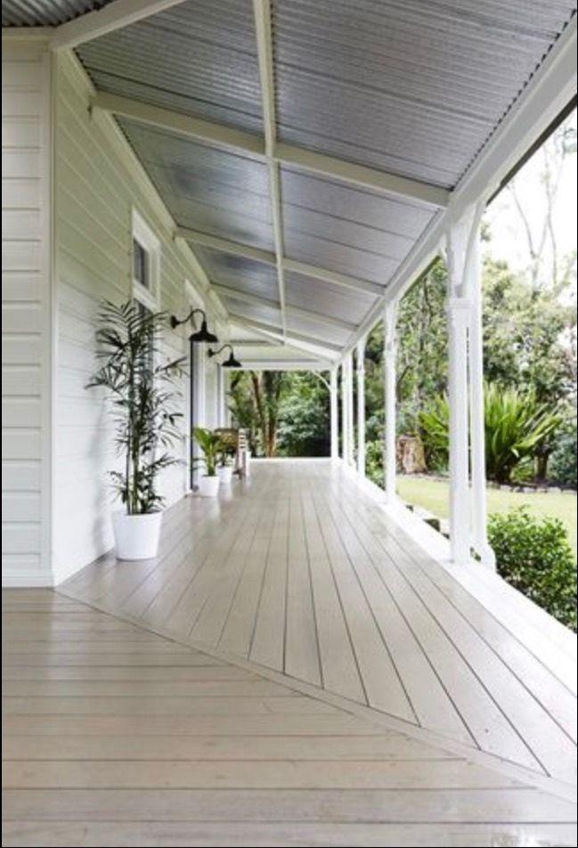 Tin roof & verandah