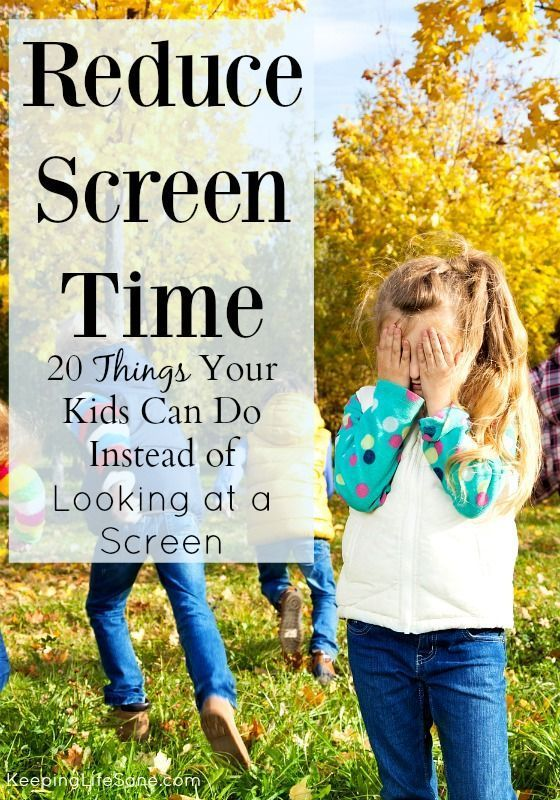 "Now that you've taken away the tablets and screen, your kids are ""bored"".  Here are 20 Things Your Kids Can Do Instead of Screen Time - Keeping Life Sane"