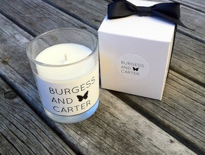 Beautiful 100% soy wax candle with a ylang ylang fragrance