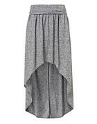 Grey Marl Dip Maxi Skirt