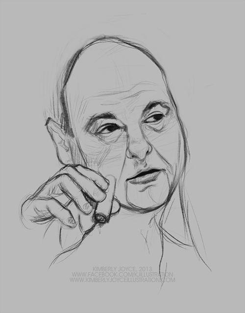 Tony Soprano (Process) by Kimberly Joyce Illustration #Art #Digital #Digital_Illustration #Digital_Painting #WIP #Process #Drawing #Face_Study #Illustration #Painting #Photoshop #Portraits #Sketch #Study #GIF #Actor #Celebrity #James_Gandolfini #The_Sopranos #Tony_Soprano #RIP
