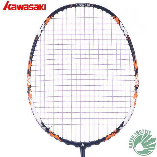 100% Original Kawasaki Full Carbon Badminton Racket Raquette Badminton With Gift