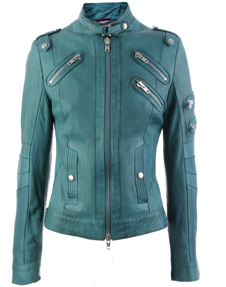 emerald leather jacket indira spring2012 veryeickhoff