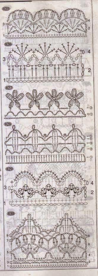 Fantásticas puntillas para aplicar a manteles y toallas | Crochet y Dos agujas
