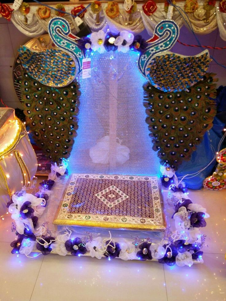 48 best images about pooja decoration on pinterest for Aarti thali decoration ideas for ganpati