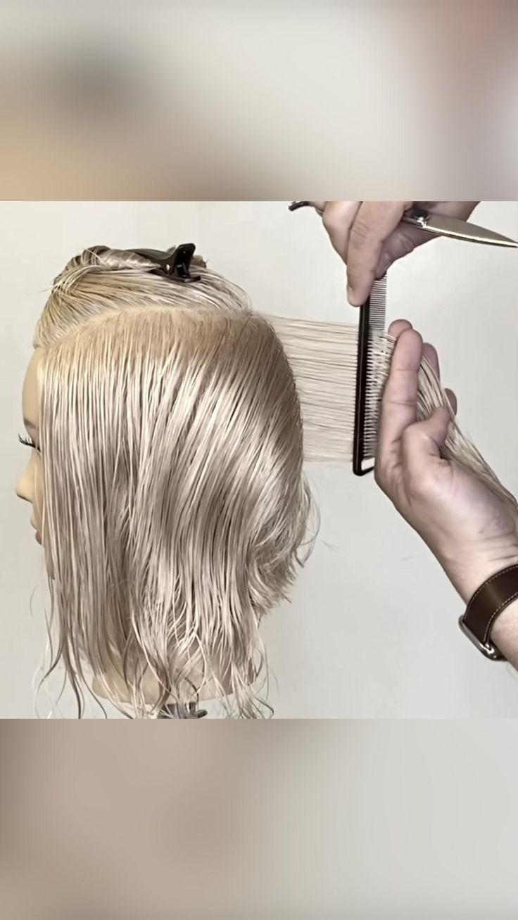 Wavy Bob Haircuts, Beauty Makeup, Hair Beauty, Wavy Bobs, Long Bob, Short Hair Cuts, Curly Bob, Hair, Easy Hair Cuts