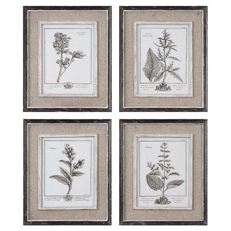 set of four framed botanical prints product 4 piece wall art setconstruction material