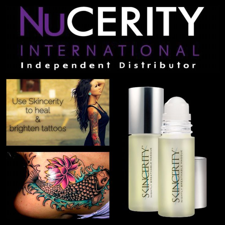 Skincerity for tattoo's - heal & brighten