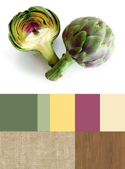 Artichoke - I have never eat it, but I'm ever fascinated it's colours
