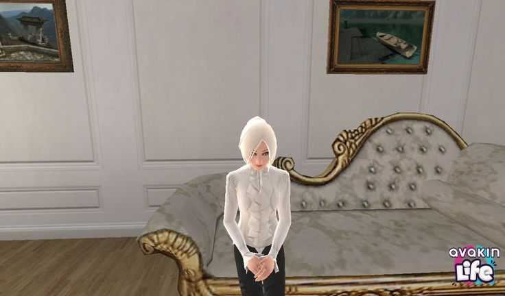 My recent outfit in Avakin Life. Going for a Neo-Victorian vibe. That apartment also belongs to me as well.