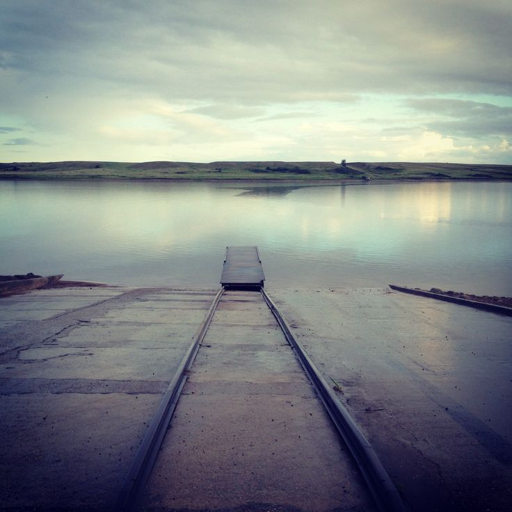Lake Diefenbaker. Father's Day. June 2013. Calm after the rain. Great day fishing!