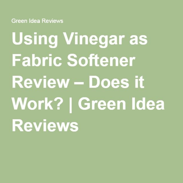 Using Vinegar as Fabric Softener Review – Does it Work? | Green Idea Reviews