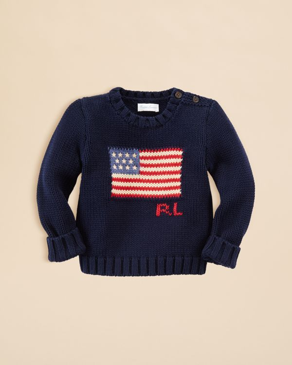 ae94353bd0729 Ralph Lauren Infant Boys  Flag Intarsia Sweater - Sizes 3-24 Months ...