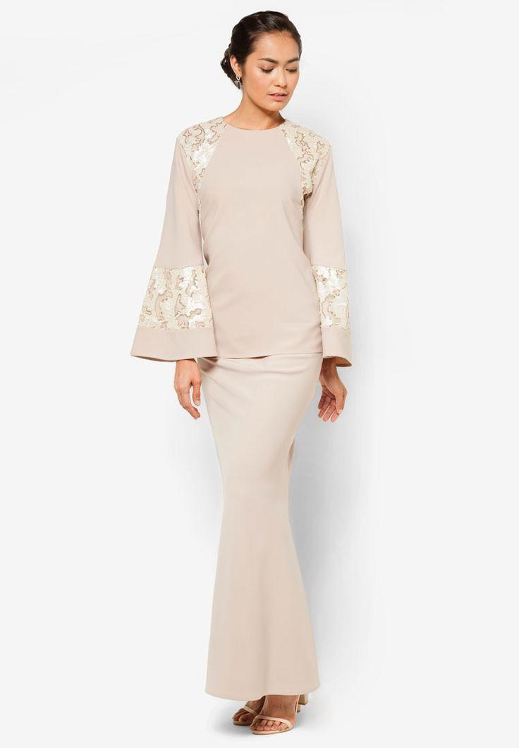 Buy emel x Liyana Jasmay Leah Baju Kurung Online | ZALORA Malaysia