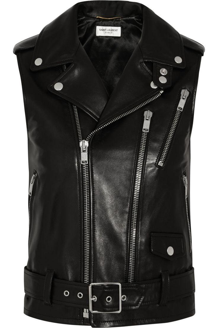 saint laurent   leather vest   permanent collection 2015