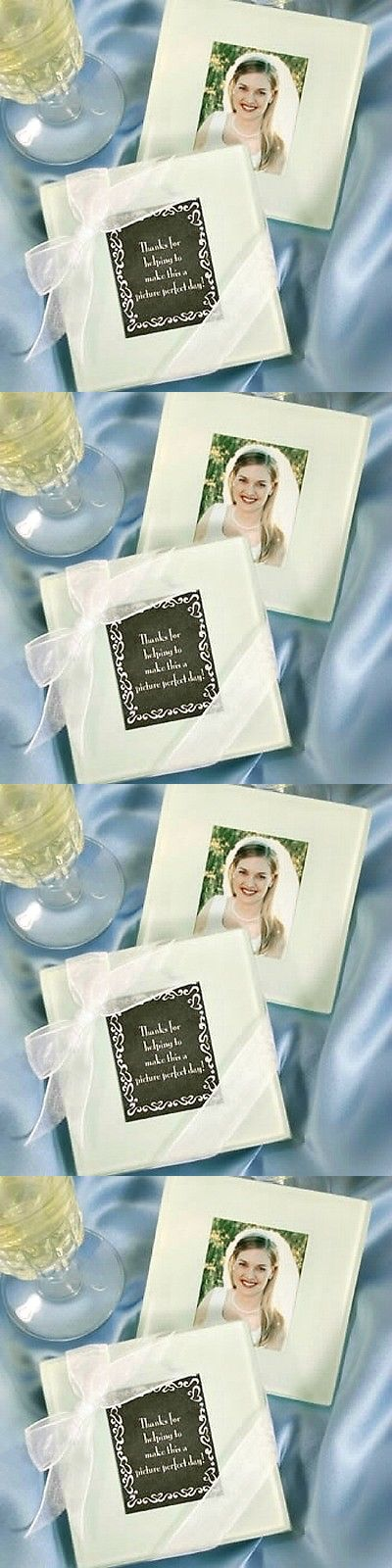 Favors and Party Bag Fillers 26385: 50 Glass Photo Coaster Set Of 2 Wedding Shower Bridal Favor Party Event Bulk Lot -> BUY IT NOW ONLY: $84.99 on eBay!