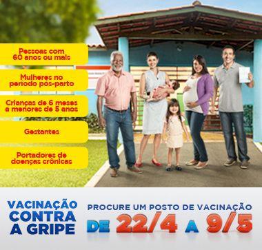 Todos os detalhes sobre a Campanha de Vacinação contra a Gripe de 2014. Confira!