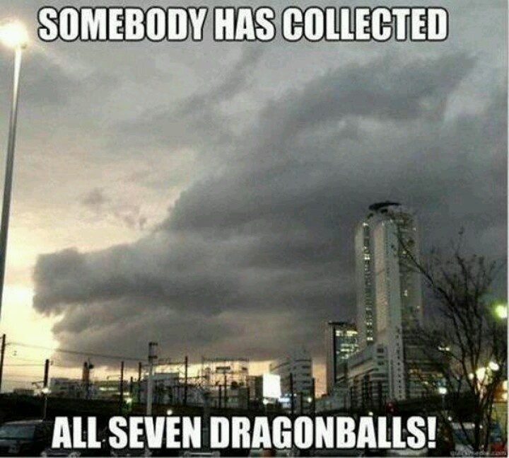Somebody has collected all seven dragonballs! #DBZ