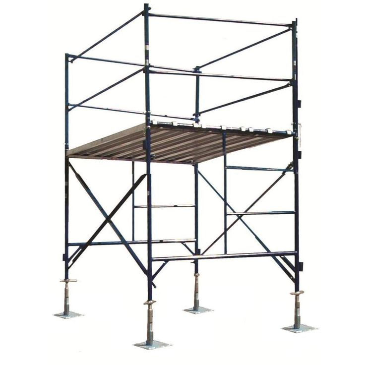 6 ft. x 7 ft. x 5 ft. 1-Story Commercial Grade Scaffold Tower 2,000 lb. Load Capacity with Guardrail and Locking Casters