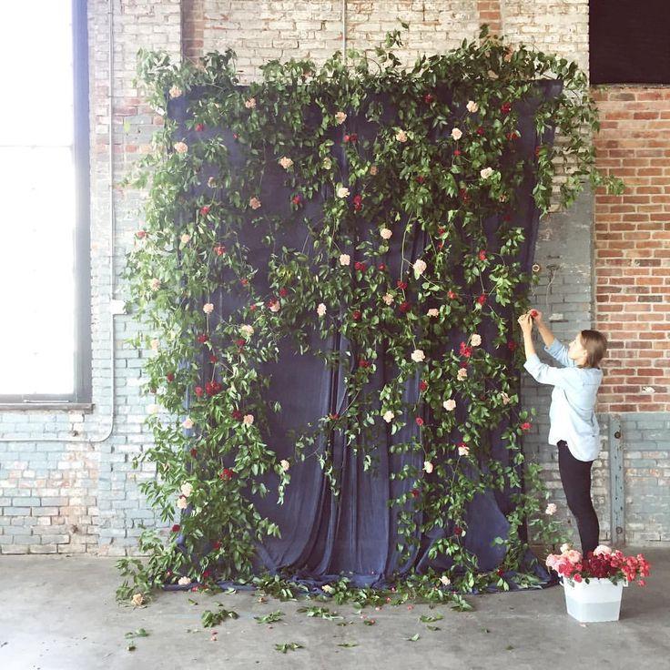 "Ariel Dearie Flowers on Instagram: ""Possibly my favorite ceremony backdrop we've made."""