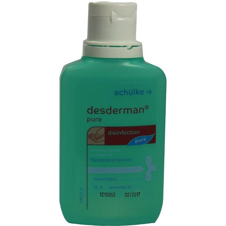 DESDERMAN Pure Lösung: Farbstoffreies und parfümfreies alkoholisches Händedesinfektionsmittel Einreibepräparat für die hygienische und…