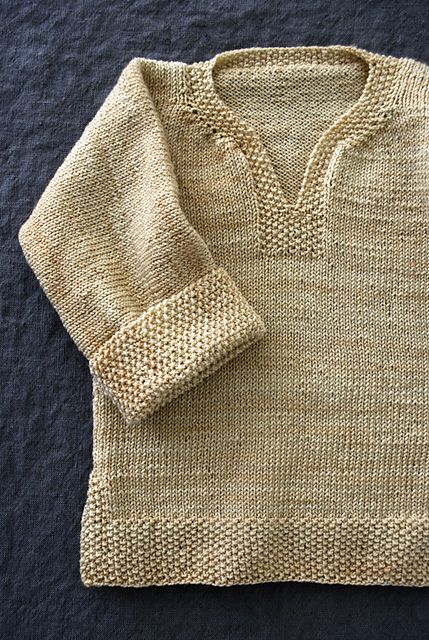 Easy Pullover for Babies, Toddlers and Kids by Purl Soho.  Free pattern.