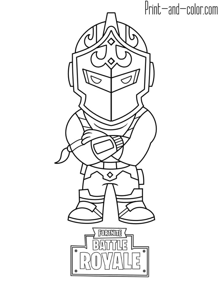 Fortnite coloring pages Print and Taide