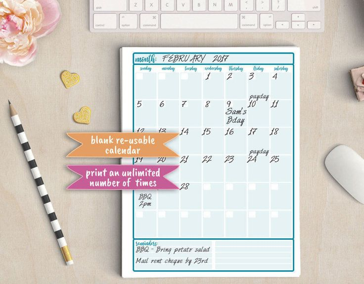 Calendar, Planner, Organizer, Journal, Blank Month Dates, PRINTABLE, Filofax, Binder Insert, A4, Letter, A5, Half Pg Size, Stationary, Note by everydayinspiring on Etsy