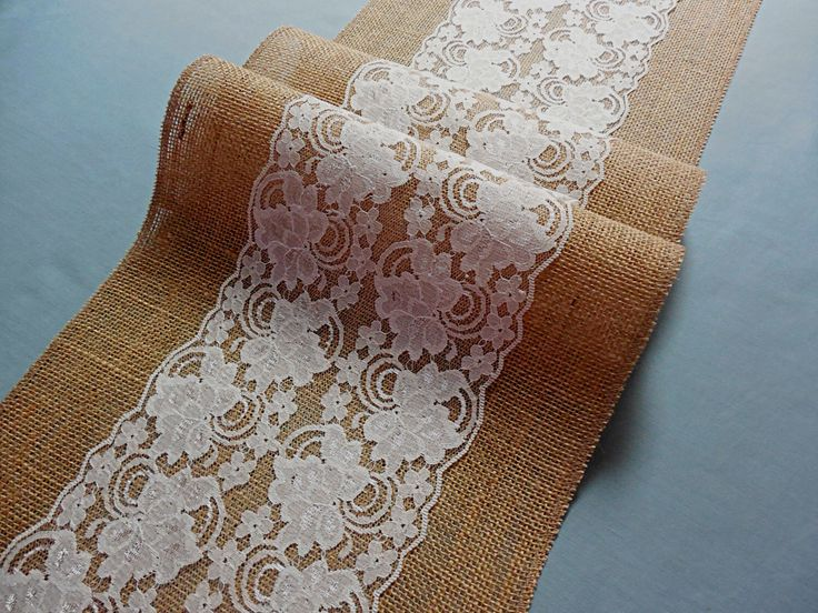 Wedding table runner burlap table runner bridal shower rustic party table topper banquet linens by DaniellesCorner on Etsy https://www.etsy.com/listing/450894178/wedding-table-runner-burlap-table-runner