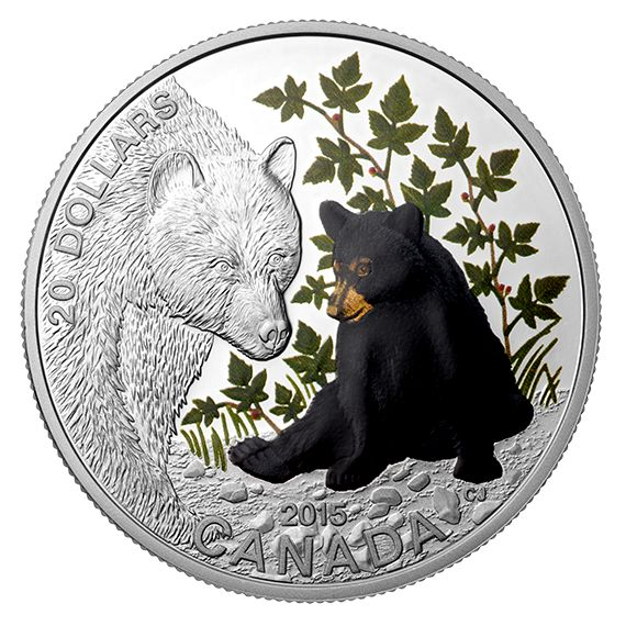 Baby Animals - 1 oz. Fine Silver Coloured 4-Coin Subscription (2015) - Mintage: 7,500
