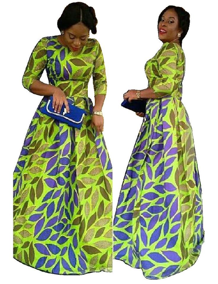 2016 African Traditional Dresses Print Ankara Dress Traditional Clothing Customized Vintage Ball Gown Three Quarter Sleeve