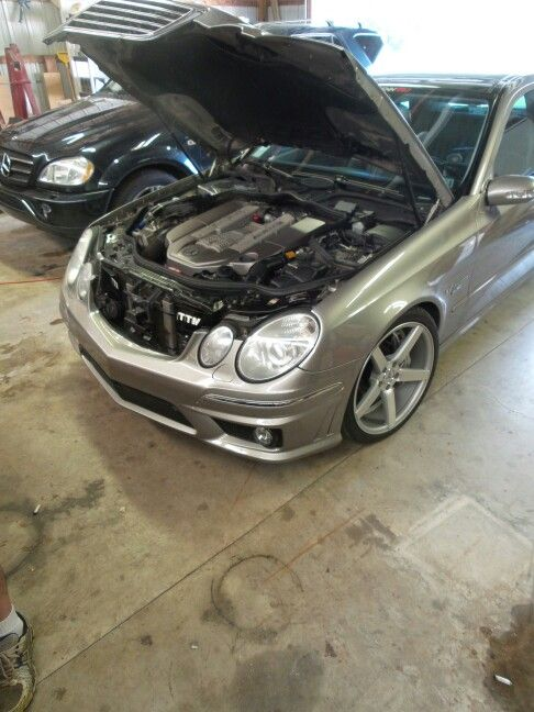 E55 AMG with TTM scoops and CV3's + many performance mods.