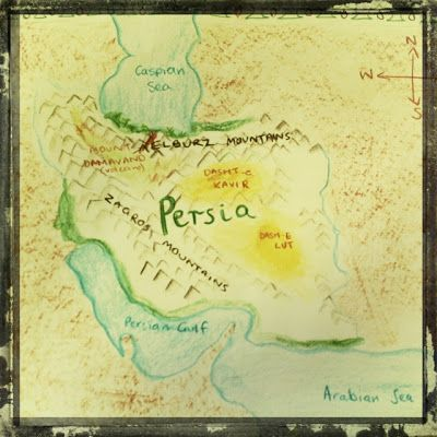 Waldorf ~ Ancient Persia ~ Map ~ main lesson book