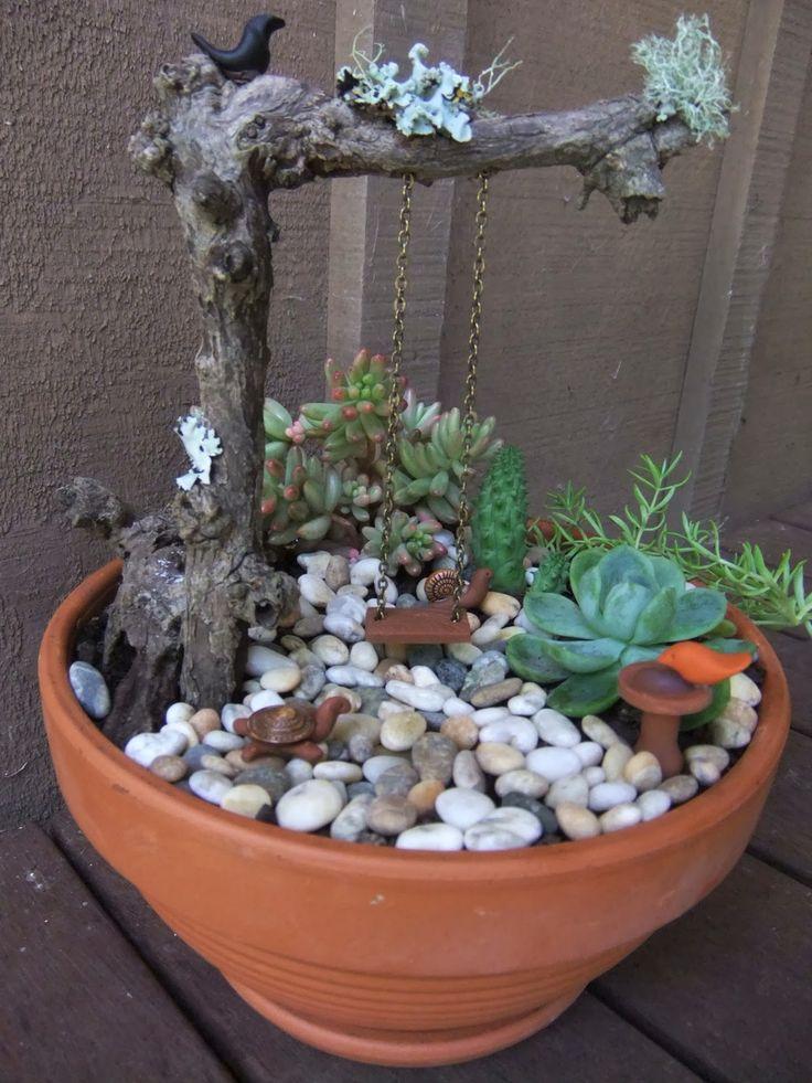 Fairy garden pot - something fun for the nieces... GRAMS!!
