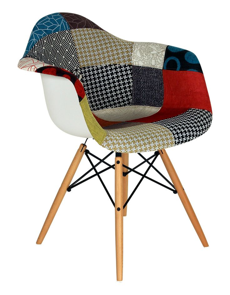 Chaise daw patchwork reproduction du mod le disponible for Fauteuil charles eames patchwork