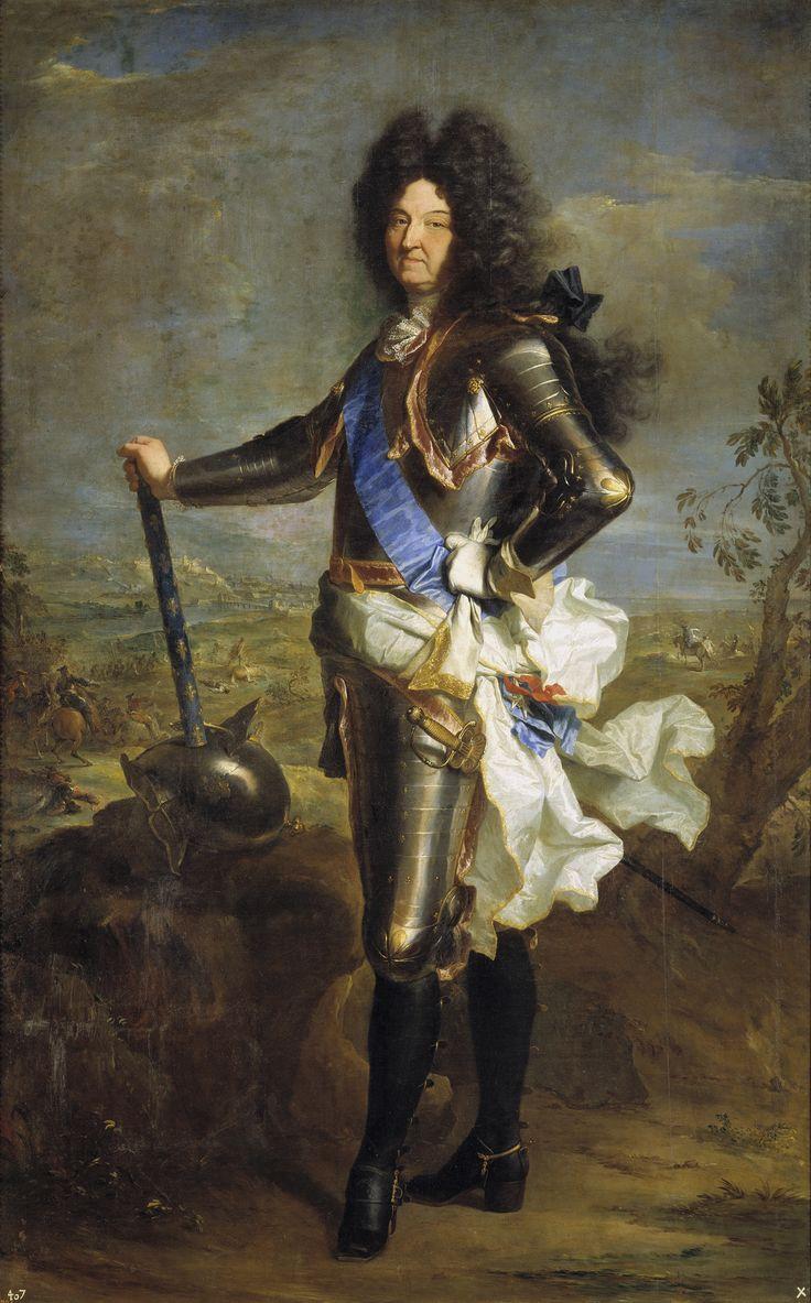 Louis XIV de Francia, abuelo de Felipe V de España. 1701, (Hyacinthe Rigaud )