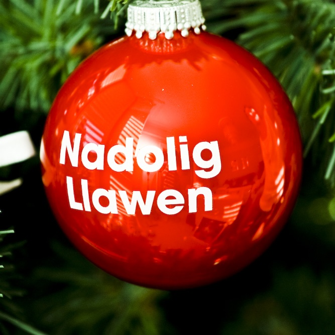 Nadolig Llawen Bauble £3.00 : Seld, chic interiors from wales. Offering welsh gifts, homewares, furniture and accessories with a contemporary, unusual, unique, design led feel