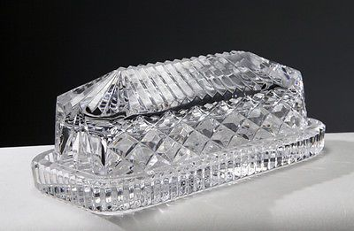 Waterford Crystal Butter Dish & Original Presentation Box - Made In Ireland