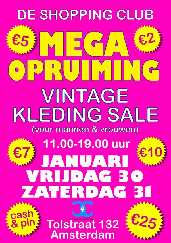 MEGA SALE DE SHOPPING CLUB AMSTERDAM