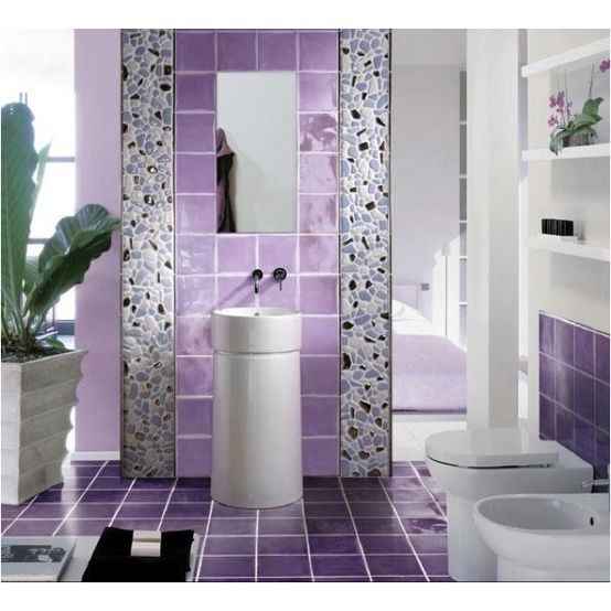 purple bathroom design with ornamental plants httplanewstalkcomsimple