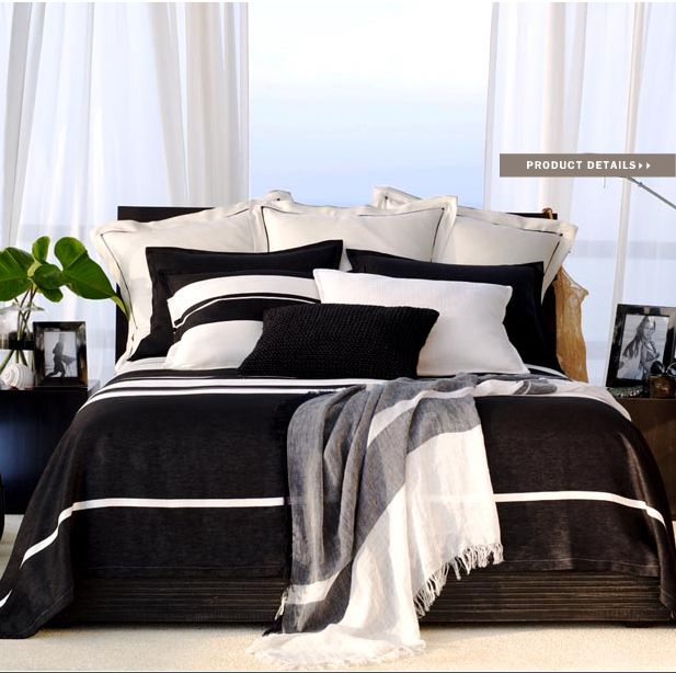 Perfect Ralph Lauren Home Black Sands Collection Nautical Black And White Modern  Beach Style