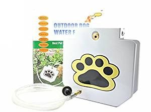 """Amazon.com : [UPGRADED VERSION] MATOP Dog Pet Water Fountain Step-On Outdoor Training Tool with 40"""" Hose : Pet Supplies"""
