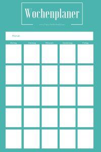 Der Blog-Wochenplaner vereinfacht Dir Deine Blogplanung.