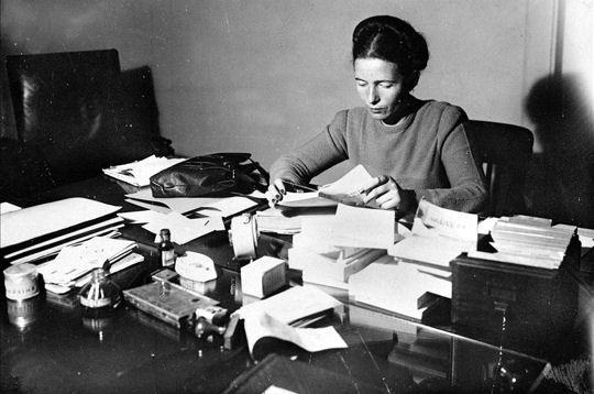 Feminist, philosopher, writer, all-around badass: Simone de Beauvoir.