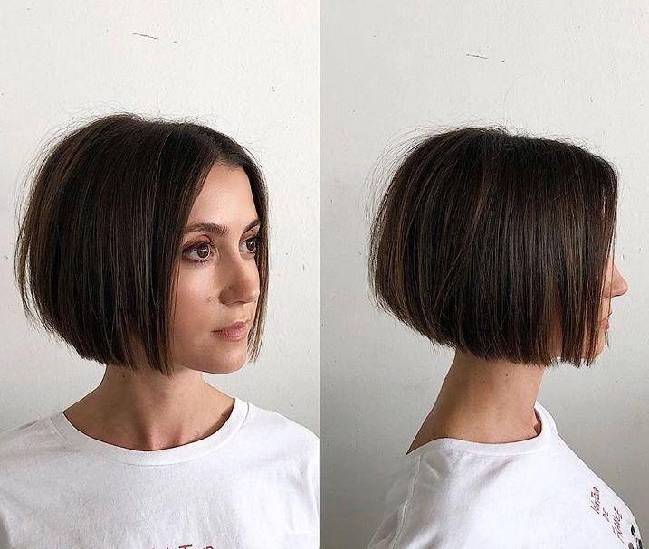 Soft Blunt Bob Hair Styles Short Hair Styles Short Straight Hair