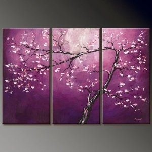 Asian Zen Decorative Oil Painting Hand Painted Wall Art 3 Piece