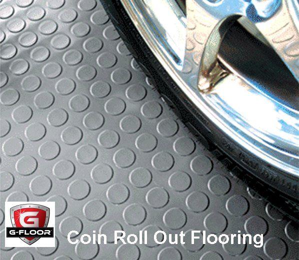 G Floor Mats >> Vinyl Roll Out Floor Covering G Floor Coin Pattern Garage