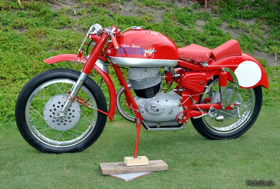 The Bike of the Month goes to Brad Boyle for his 1958 MV Agusta Gran Sport 250. This machine has beautiful Italian lines and it is a one of a kind prototype.
